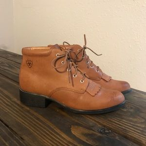 Ariat Brown Leather Lace Up Ankle Boot